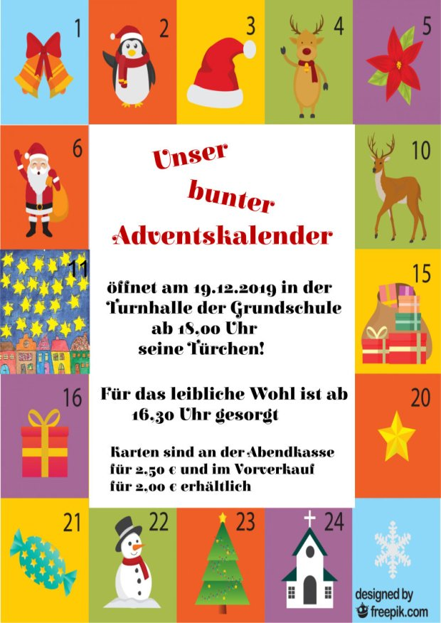 2019 Adventskalender Grundschule